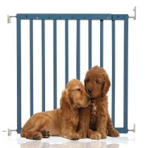 Bettacare Chunky Wooden Screw Fit Pet Gate Azure Blue 63.5cm-105.5cm