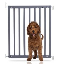 Bettacare Chunky Wooden Screw Fit Pet Gate Grey 63.5cm - 105.6cm