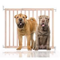 Bettacare Chunky Wooden Screw Fit Pet Gate Natural 63.5cm - 105.5cm