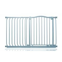 Safetots Matt Grey Curved Top Gate with 45cm Extension