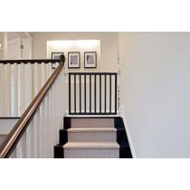 Safetots Top of Stairs Black Wooden Stair Gate 63.5cm -105.5cm