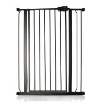Safetots Extra Tall Pressure Fit Gate Matt Black 81.4cm - 89cm