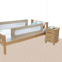 Safetots Extra Wide Double Sided Mesh Bed Rail Natural