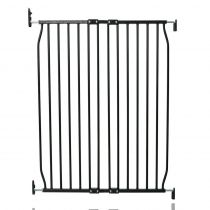 Safetots Extra Tall Eco Screw Fit Baby Gate Black 80cm - 90cm