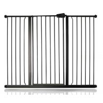 Safetots Extra Tall Pressure Fit Gate Matt Black 120.3cm - 127.9cm