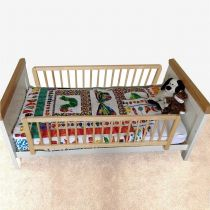 Safetots Extra Tall Double Sided Wooden Bed Rail Natural