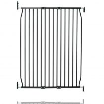 Safetots Extra Tall Eco Screw Fit Baby Gate Black 90cm - 100cm