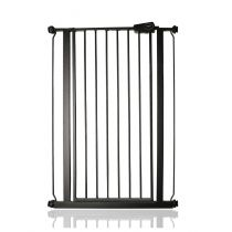 Safetots Extra Tall Pressure Fit Gate Matt Black 75cm - 82.6cm