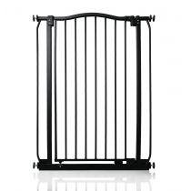 Safetots Extra Tall Matt Black Curved Top Gate 71cm - 80cm