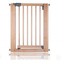 Safetots Wooden Pressure Fit Safety Gate Natural 74cm-81cm