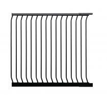 Safetots Extra Tall Matt Black Curved Top Gate Extension 100cm