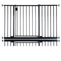 Safetots Extra Wide Hallway Gate Black 115.6cm - 121.6cm
