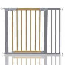 Safetots Beechwood and Metal Pressure Fit Gate 90.2cm - 97.6cm