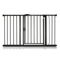 Safetots Self Closing Gate Matt Black 125.4cm - 132.4cm