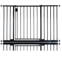 Bettacare Extra Wide Hallway Pet Gate Black 109.4cm - 115.4cm