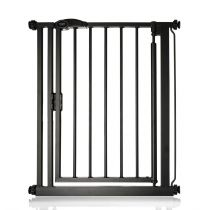 Safetots Self Closing Gate Matt Black Narrow 68.5-75cm
