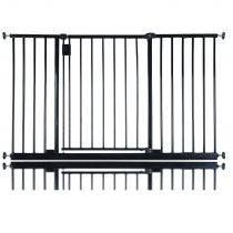Safetots Extra Wide Hallway Gate Black 128cm - 134cm