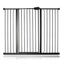 Safetots Extra Tall Pressure Fit Gate Matt Black 126.7cm - 134.3cm