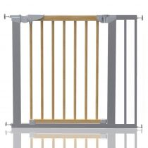 Safetots Beechwood and Metal Pressure Fit Gate 83.7cm - 91.1cm