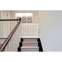 Safetots Top of Stairs White Wooden Stair Gate 63.5cm - 105.5cm