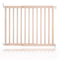 Safetots Chunky Wooden Screw Fit Gate Natural 63.5cm - 105.5cm