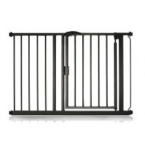 Safetots Self Closing Gate Matt Black 111cm - 118cm
