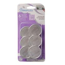 Dreambaby Electric Silver Socket Covers UK Pack of 6