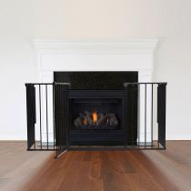Safetots Multi Panel Fire Surround Black 46D x 138W cm