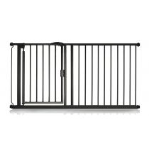 Safetots Self Closing Gate Matt Black 154.2cm - 161.2cm