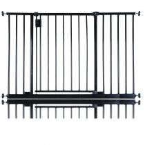 Safetots Extra Wide Hallway Gate Black 109.4cm - 115.4cm