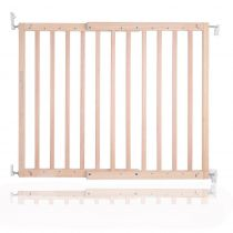 Safetots Top of Stairs Natural Wooden Stair Gate 63.5cm - 105.5cm