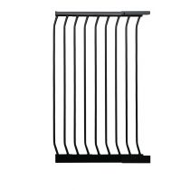 Safetots Extra Tall Matt Black Curved Top Gate Extension 54cm