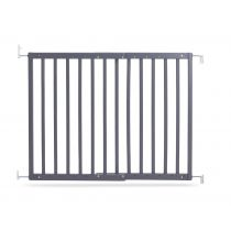 Safetots Chunky Wooden Screw Fit Gate Grey 63.5cm - 105.6cm