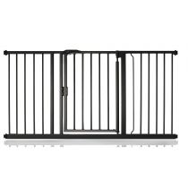 Safetots Self Closing Gate Matt Black 147cm - 154cm