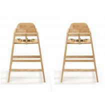 Safetots Simply Stackable Highchair Natural Two Pack