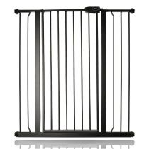 Safetots Extra Tall Pressure Fit Gate Matt Black 94.3cm - 101.9cm