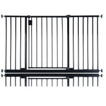 Bettacare Extra Wide Hallway Pet Gate Black 128cm - 134cm