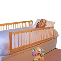 Safetots Extra Wide Double Sided Wooden Bedguard Natural