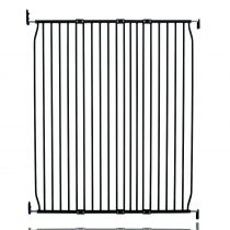 Safetots Extra Tall Eco Screw Fit Baby Gate Black 120cm - 130cm