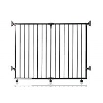 Safetots Foldaway Gate Black 60cm - 125.5cm
