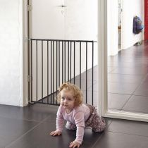 Safetots Top of Stairs Black Metal Stair Gate 62.5cm - 106.8cm