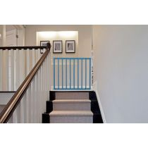 Safetots Top of Stairs Azure Blue Wooden Stair Gate 63.5cm - 105.5cm