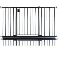 Safetots Extra Wide Hallway Gate Black 134.2cm - 140.2cm