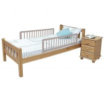 Safetots Extra Tall Double Sided Wooden Bed Rail Grey