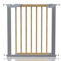 Safetots Beechwood and Metal Pressure Fit Gate 71.3cm - 77.6cm