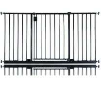 Bettacare Extra Wide Hallway Pet Gate Black 115.6cm - 121.6cm
