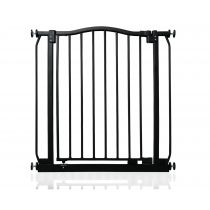 Safetots Matt Black Curved Top Gate 71cm - 80cm