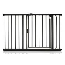 Safetots Self Closing Gate Matt Black 118.2cm - 125.2cm