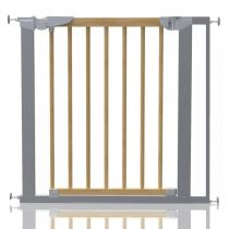 Safetots Beechwood and Metal Pressure Fit Gate 77.5cm - 84.4cm