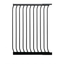 Safetots Extra Tall Matt Black Curved Top Gate Extension 63cm
